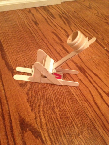 how to make a simple catapult out of popsicle sticks